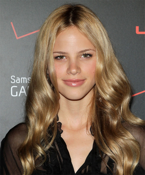 Halston Sage  Long Wavy Hairstyle