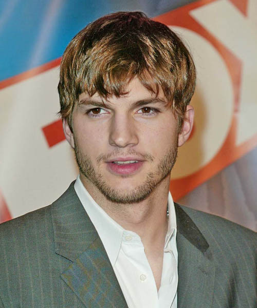 Ashton Kutcher - Casual Short Straight Hairstyle