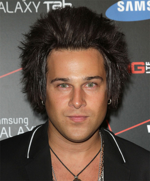 Ryan Cabrera Short Straight Alternative Hairstyle - Dark Brunette Hair Color
