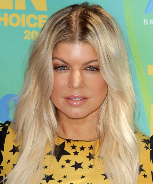 Fergie Long Straight Hairstyle - Light Blonde