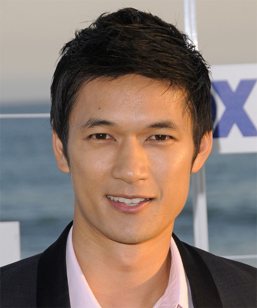 Harry Shum Jr.  Short Straight Hairstyle