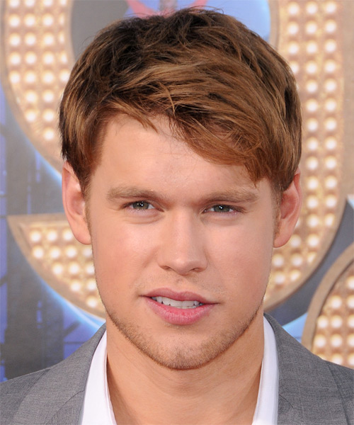 Chord Overstreet Short Straight Hairstyle - Medium Brunette (Copper)