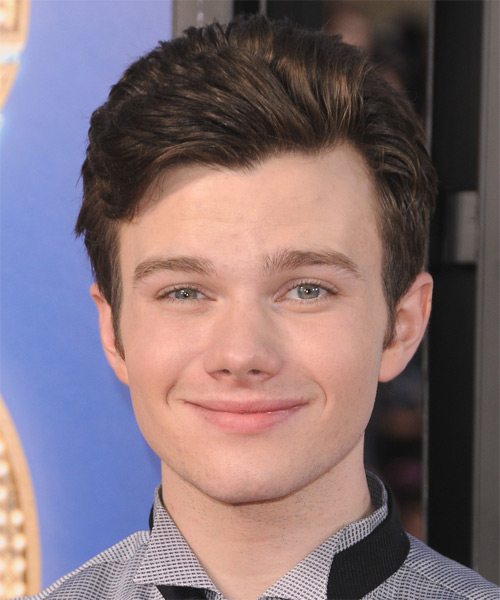 Chris Colfer Short Straight Formal Hairstyle - Medium Brunette Hair Color