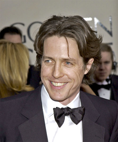 Hugh Grant - Casual Short Straight Hairstyle