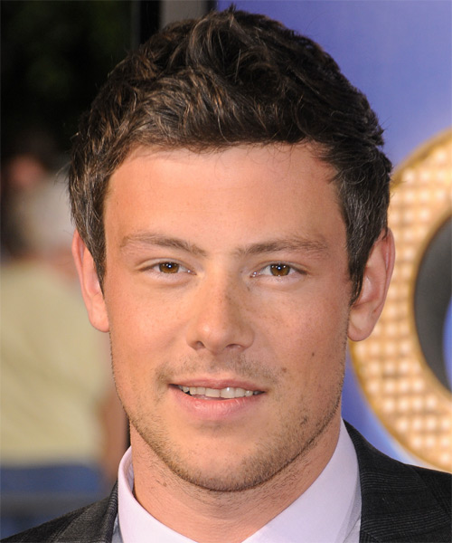 Corey Monteith Short Straight Hairstyle - Medium Brunette