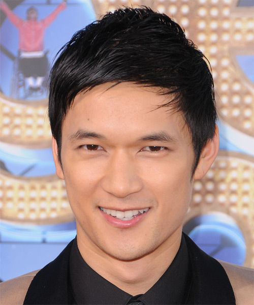 Harry Shum Jr. Short Straight Hairstyle - Black