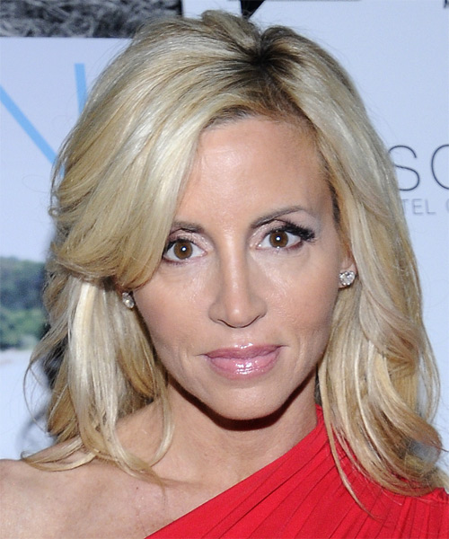 Camille Grammer Medium Straight Hairstyle - Medium Blonde