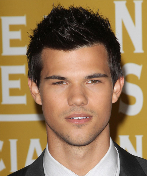 Taylor Lautner Short Straight Casual Hairstyle - Black Hair Color
