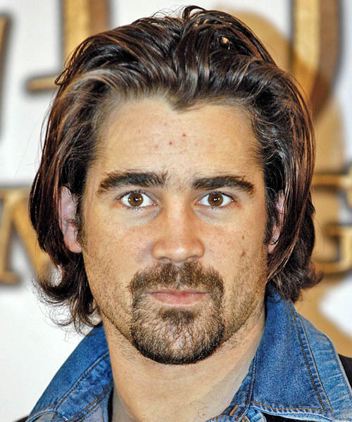 Colin Farrell - Casual Long Straight Hairstyle
