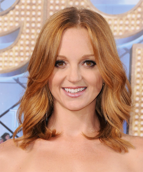 Jayma Mays Medium Wavy Casual Hairstyle - Light Blonde (Copper) Hair Color