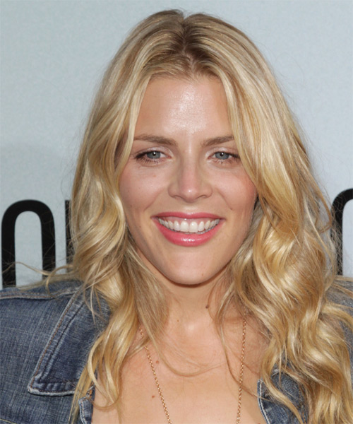 Busy Phillips Long Wavy Casual Hairstyle - Light Blonde Hair Color