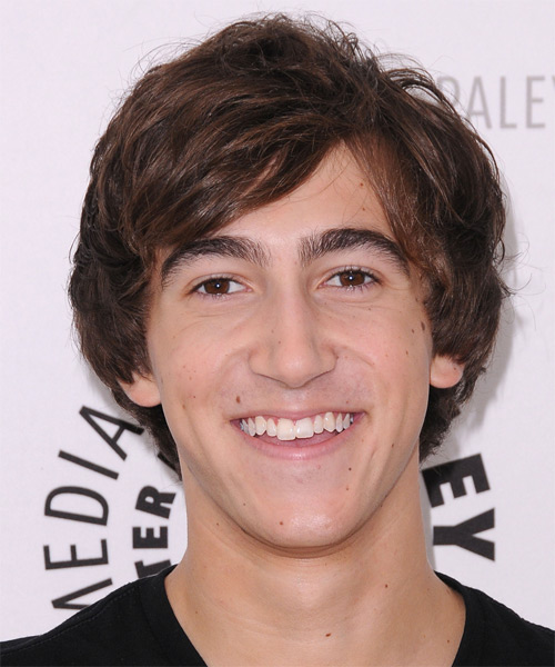 Vincent Martella Medium Straight Hairstyle - Dark Brunette