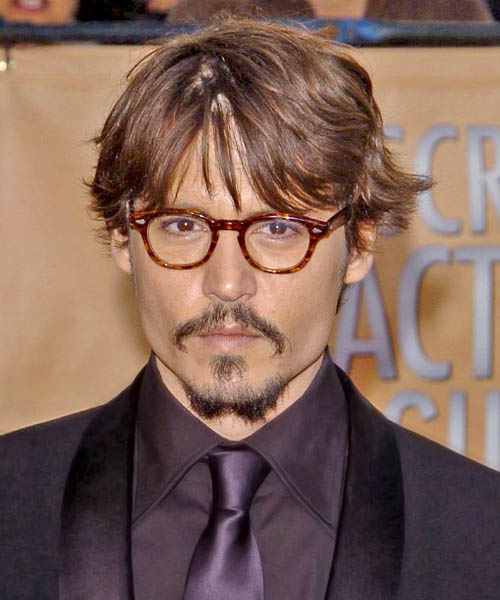 Johnny Depp Short Wavy Casual Hairstyle