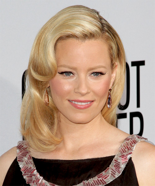 Elizabeth Banks Medium Wavy Hairstyle - Light Blonde