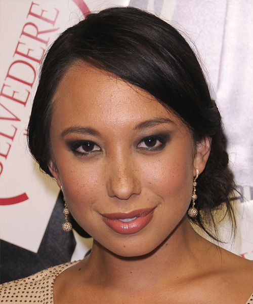 Cheryl Burke Casual Straight Updo Hairstyle - Dark Brunette