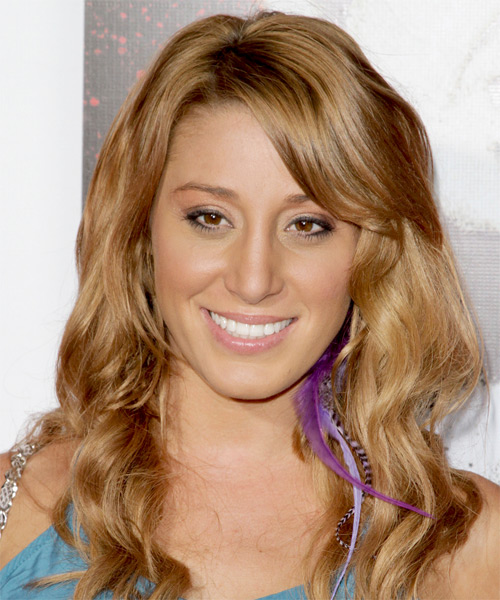 Vienna Girardi Long Wavy Casual Hairstyle - Medium Blonde (Honey) Hair Color