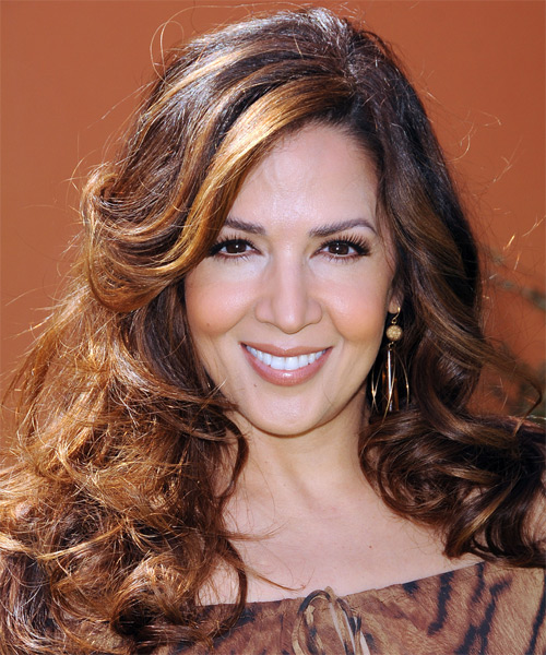 Maria Canals Berrera Long Wavy Hairstyle - Medium Brunette (Auburn)