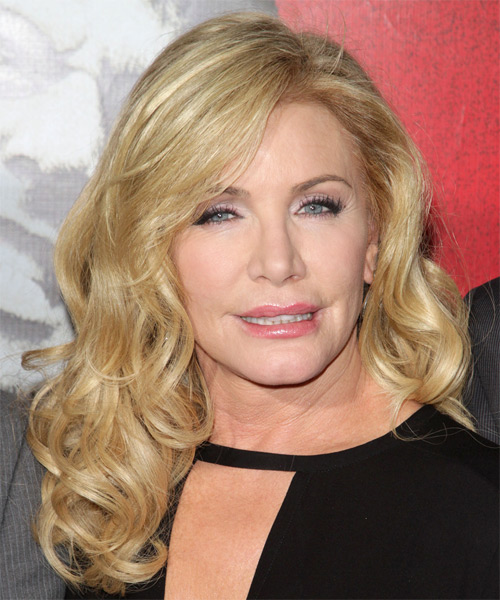 Shannon Tweed Long Wavy Hairstyle - Light Blonde (Golden)