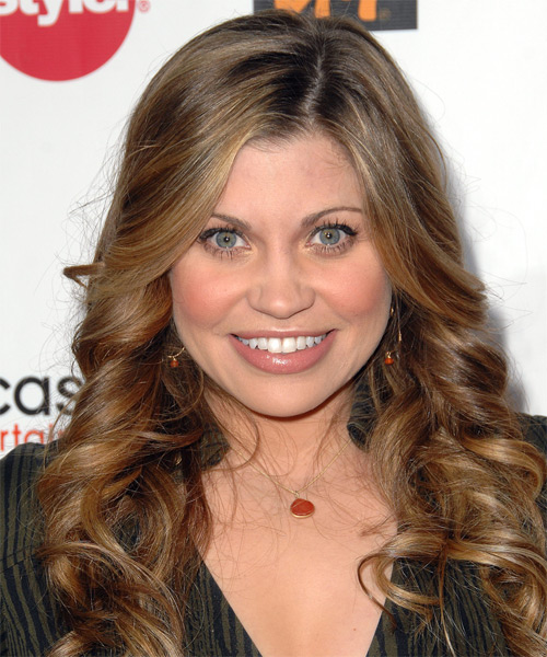 Danielle Fishel Long Wavy Hairstyle - Medium Brunette (Caramel)