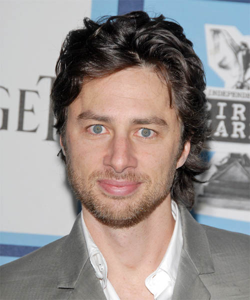 Zach Braff Short Wavy Hairstyle