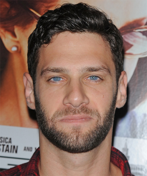 Justin Bartha Short Wavy Casual Hairstyle - Dark Brunette Hair Color