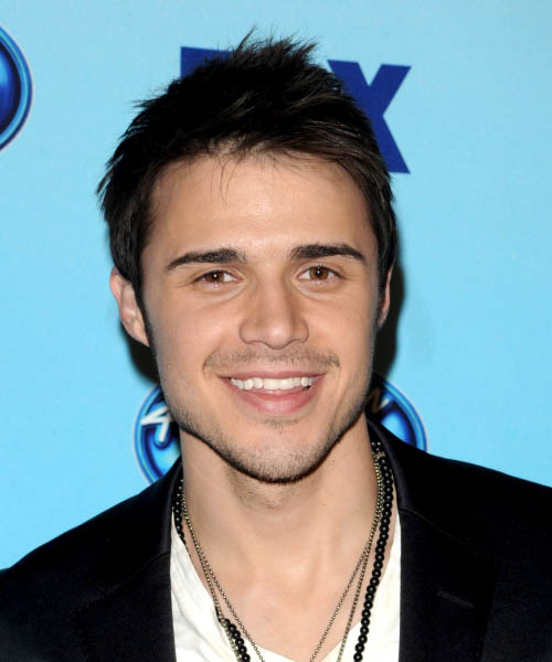 Kris Allen Short Straight Casual Hairstyle - Black Hair Color