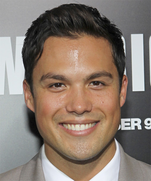 Michael Copon Short Straight Hairstyle - Dark Brunette