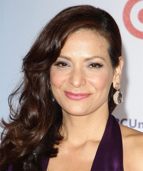 Constance Marie Long Wavy Formal Hairstyle - Dark Brunette Hair Color