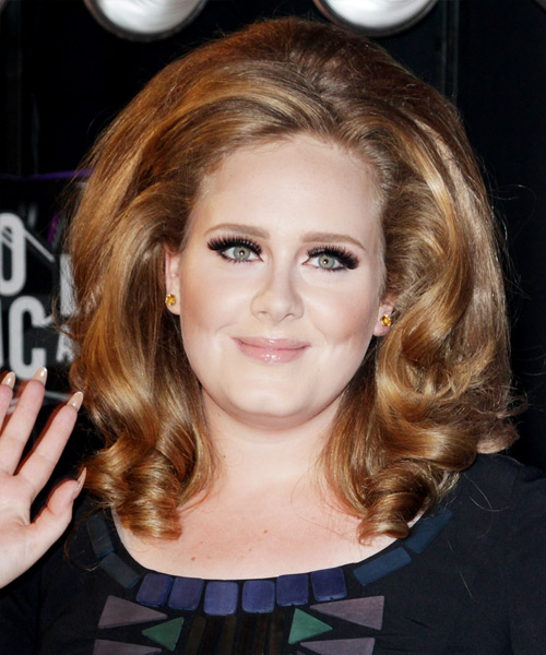 Adele Medium Wavy Formal Hairstyle - Dark Blonde Hair Color