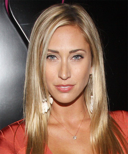 Lauren Stoner Long Straight Casual Hairstyle - Medium Blonde (Golden) Hair Color