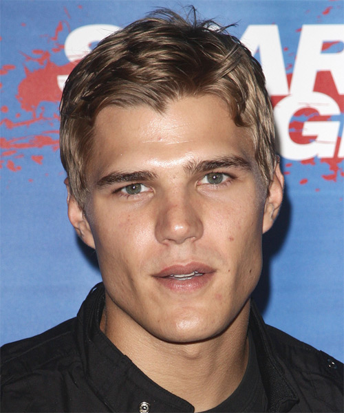 Chris Zylka  Short Straight Hairstyle - Medium Blonde (Champagne)