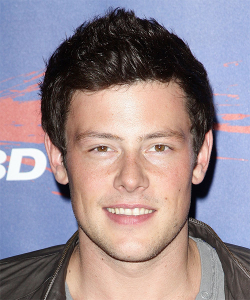 Corey Monteith Short Straight Hairstyle - Dark Brunette