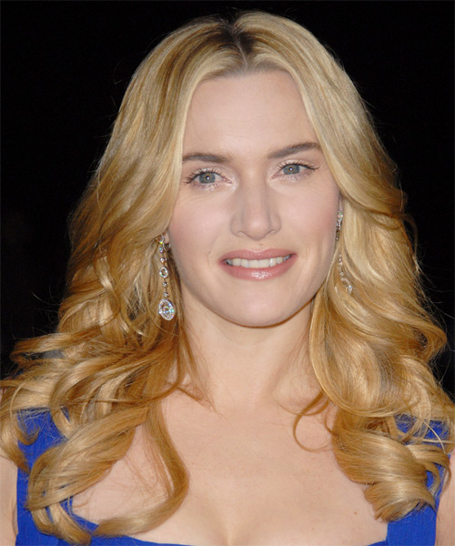 Kate Winslet Long Wavy Formal Hairstyle - Medium Blonde (Golden) Hair Color