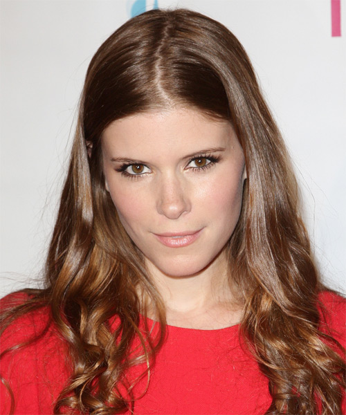 Kate Mara Long Wavy Hairstyle - Medium Brunette (Chestnut)