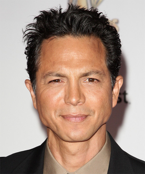 Benjamin Bratt Short Straight Hairstyle - Black