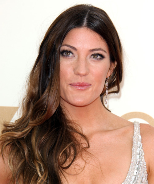 Jennifer Carpenter Long Wavy Casual Hairstyle - Dark Brunette Hair Color