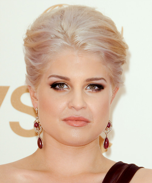 Kelly Osbourne Straight Formal Updo Hairstyle - Light Blonde Hair Color