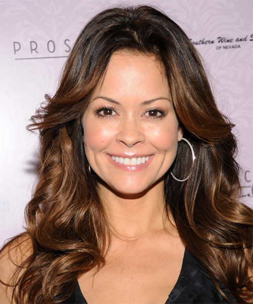 Brooke Burke Long Wavy Hairstyle - Medium Brunette (Auburn)