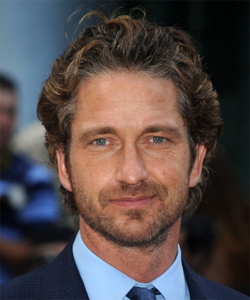 Gerard Butler Short Wavy Hairstyle - Medium Brunette