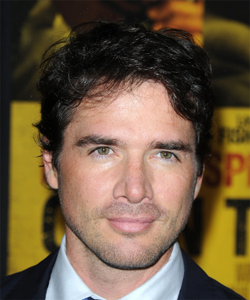 Matthew Settle Short Straight Hairstyle - Black