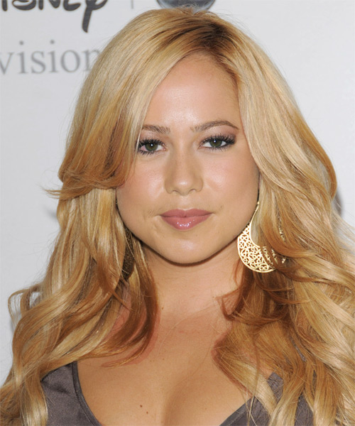 Sabrina Bryan Long Wavy Hairstyle - Medium Blonde (Honey)