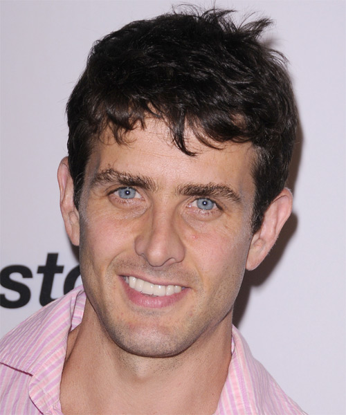 Joey McIntyre Short Straight Hairstyle - Dark Brunette (Mocha)