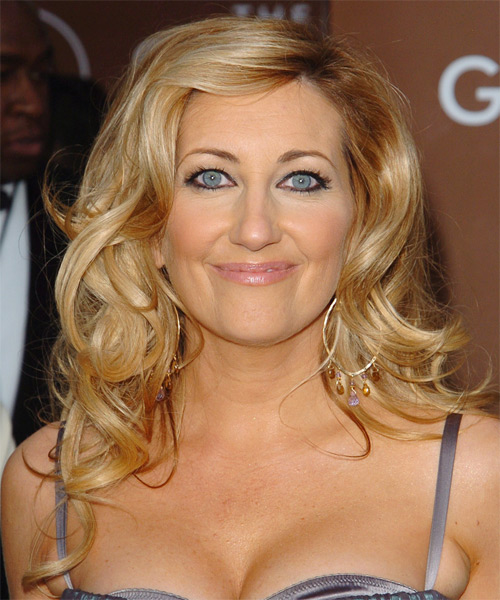 Lee Ann Womack Long Wavy Formal Hairstyle - Medium Blonde (Honey) Hair Color