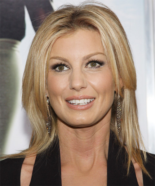 Faith Hill Medium Straight Hairstyle - Medium Blonde (Golden)