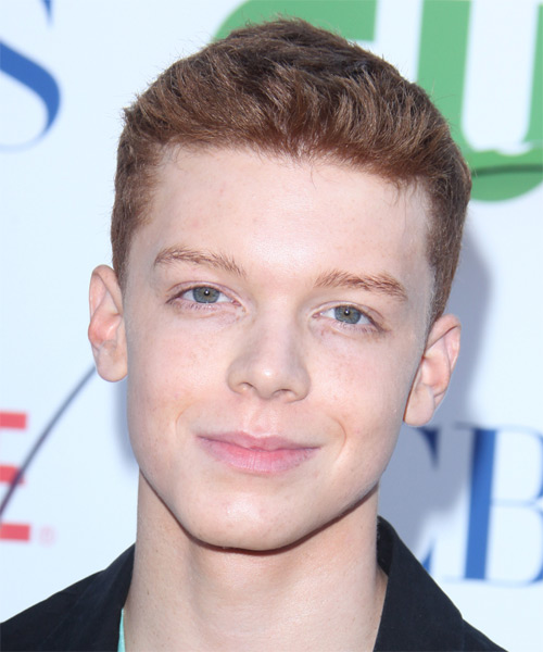 Cameron Monaghan Short Straight Casual Hairstyle - Dark Blonde (Strawberry) Hair Color