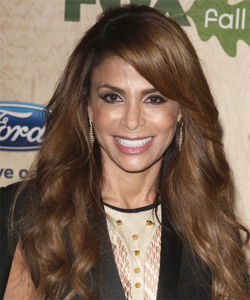 Paula Abdul - Wavy  Long Wavy Hairstyle - Medium Brunette (Chestnut)