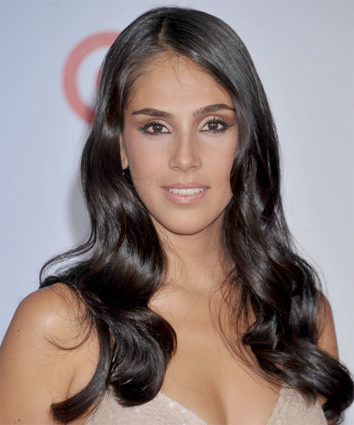 Sandra Echeverria Long Wavy Hairstyle - Black