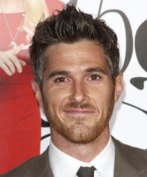 Dave Annable Short Straight Hairstyle - Dark Brunette (Grey)