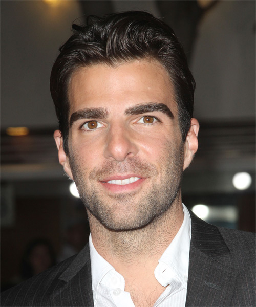 Zachary Quinto Short Straight Hairstyle - Dark Brunette