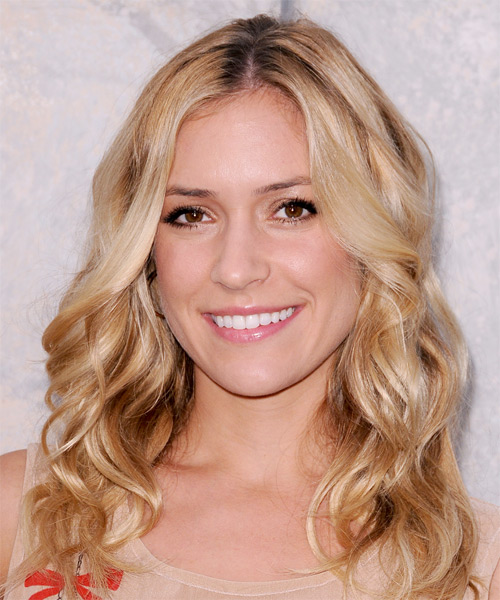 Kristin Cavallari Medium Wavy Hairstyle - Medium Blonde (Honey)